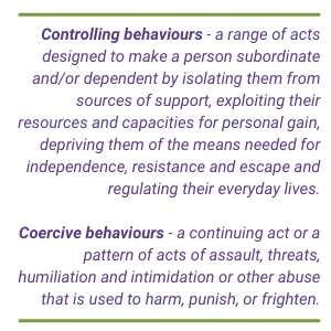 Definition of coercive control